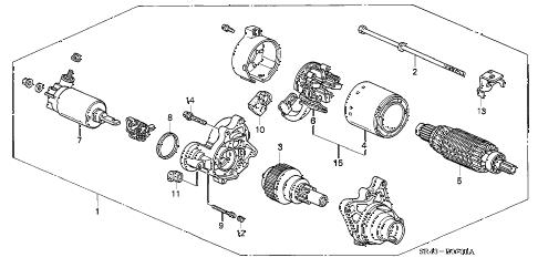 Honda online store : 1995 civic starter motor (mitsuba) (2