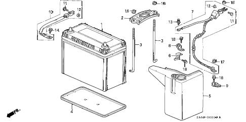 Honda online store : 1995 civic battery parts