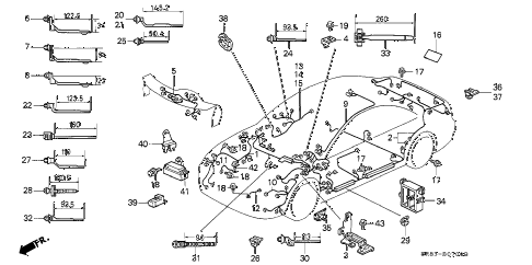 Honda online store : 1993 civic wire harness parts