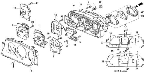 Honda online store : 1995 civic meter components parts