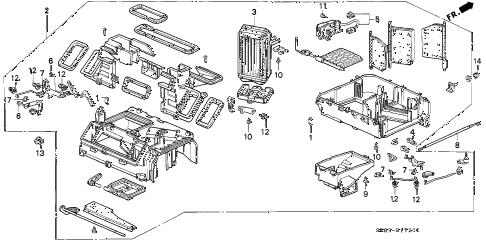 Honda online store : 1995 civic heater unit parts