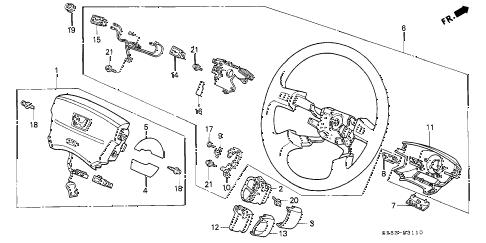 Honda online store : 1994 civic steering wheel (srs) parts