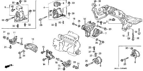 Honda online store : 1993 civic mt engine mount parts