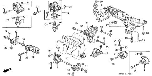 Honda online store : 1995 civic at engine mount parts