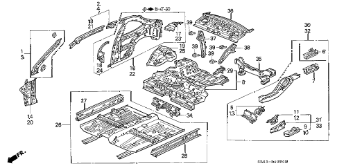 Honda online store : 1993 civic body structure (2) parts