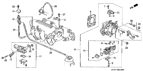 Honda online store : 1994 civic throttle body parts