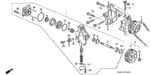 Honda online store : 1995 civic p.s. pump parts