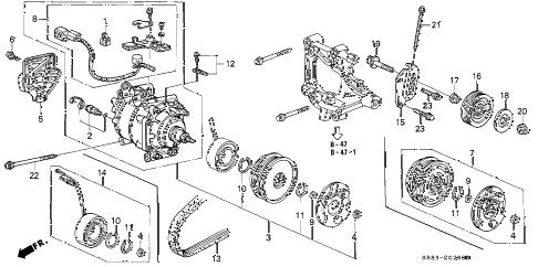 Honda online store : 1993 civic a/c compressor (sanden) (1