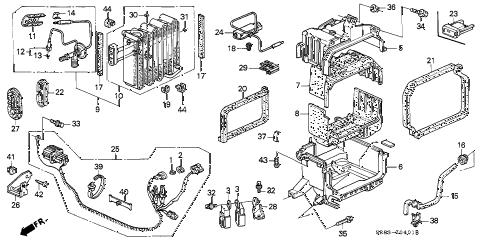 Honda online store : 1995 civic a/c unit (3) parts