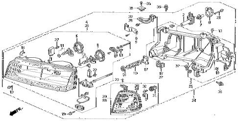 Honda online store : 1996 prelude headlight parts