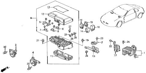 Honda online store : 1995 prelude control unit (engine