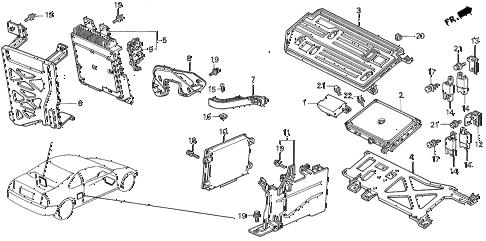 Honda online store : 1992 prelude control unit (pgm-fi