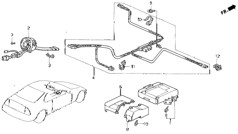 Honda online store : 1994 prelude srs unit (2) parts