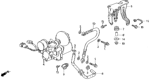Honda online store : 1995 prelude abs accumulator parts
