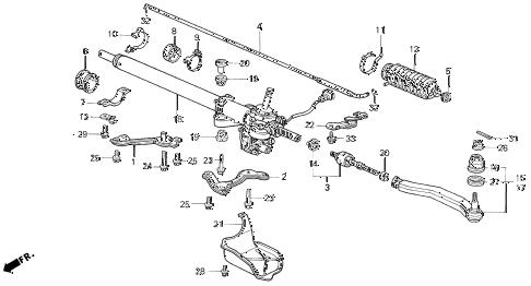 Honda online store : 1996 prelude p.s. gear box parts