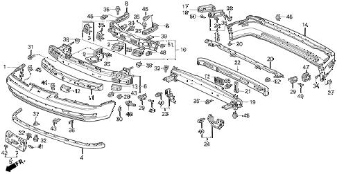 Honda online store : 1992 prelude bumper parts