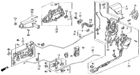 Honda online store : 1995 prelude door lock parts