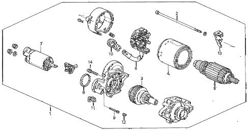 Honda online store : 1992 prelude starter motor (mitsuba
