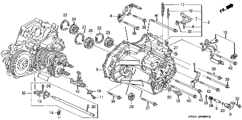 Honda online store : 1995 accord at transmission housing parts