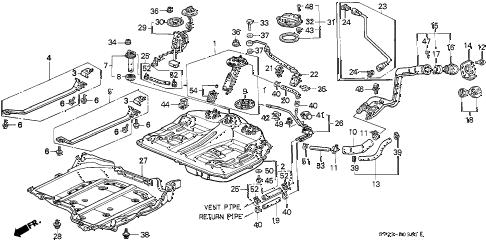 Honda online store : 1997 accord fuel tank (2) parts