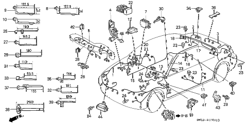 Honda online store : 1994 accord wire harness parts