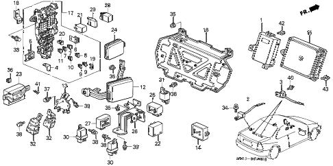 Honda online store : 1995 accord control unit (cabin) parts