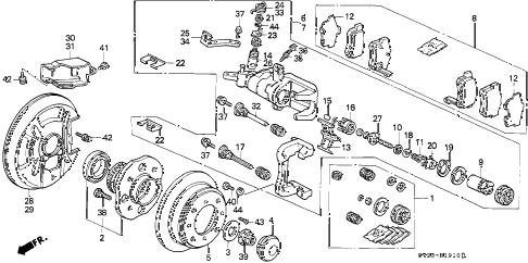 Honda online store : 1997 accord rear brake (disk) (1