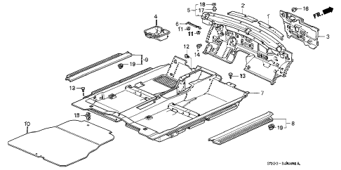 Honda online store : 1995 accord floor mat parts
