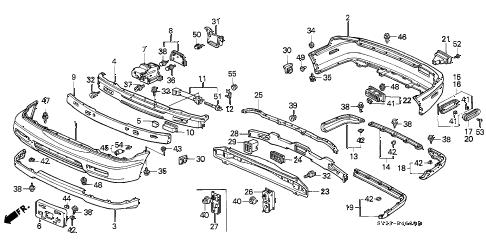 Honda online store : 1996 accord bumper parts