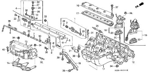 Honda online store : 1997 accord intake manifold parts