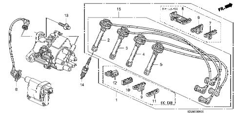 Honda online store : 1997 accord high tenshion cord