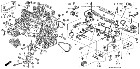 Honda online store : 1997 accord engine wire harness