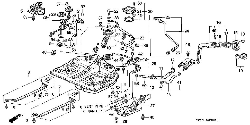 Honda online store : 1994 accord fuel tank (1) parts