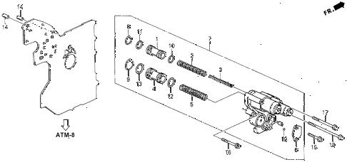 Honda online store : 1995 accord at accumulator body parts