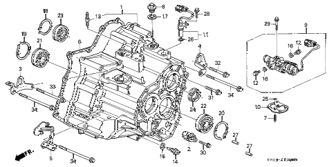 Honda online store : 1995 accord at transmission housing