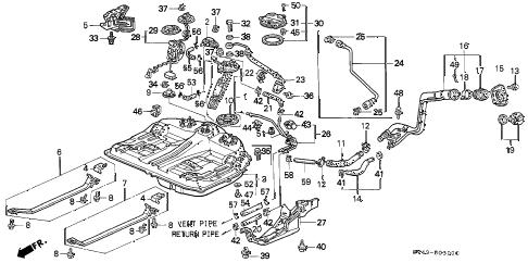 Honda online store : 1996 accord fuel tank (1) parts