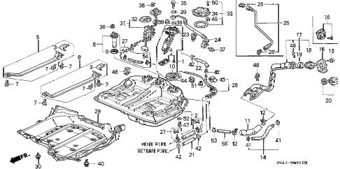 Honda online store : 1996 accord fuel tank (2) parts