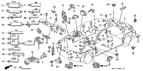Honda online store : 1996 accord wire harness parts