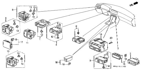 Honda online store : 1997 accord switch parts