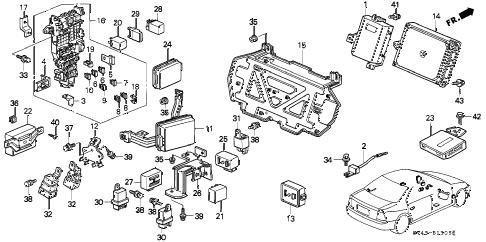 Honda online store : 1997 accord control unit (cabin) parts