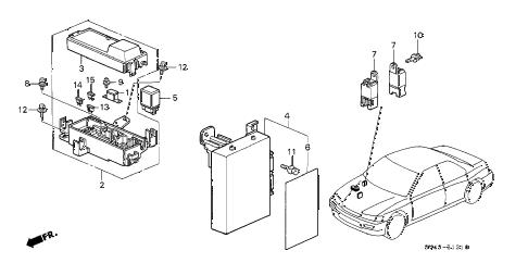 Honda online store : 1996 accord abs unit parts