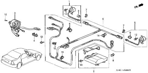 Honda online store : 1994 accord srs unit ('94) parts