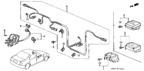 Honda online store : 1997 accord srs unit ('96,'97) parts