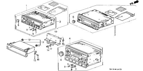 Honda online store : 1997 accord auto radio parts