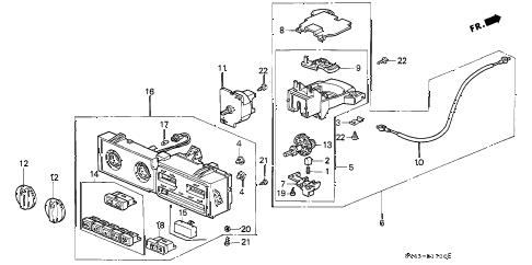 Honda online store : 1996 accord heater control parts
