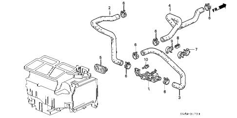 Honda online store : 1995 accord water valve (v6) parts