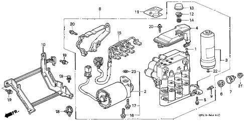Honda online store : 1995 accord abs modulator (v6) parts