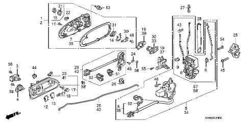 Honda online store : 1996 accord front door locks parts