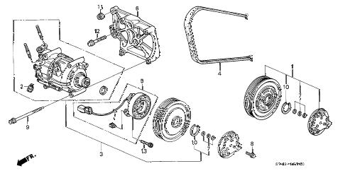 Honda online store : 1994 accord a/c compressor (1) parts