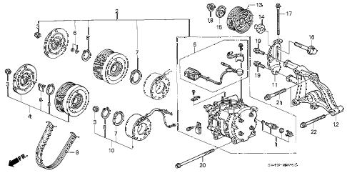 Honda online store : 1995 accord a/c compressor (v6) parts